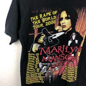 VTG MARILYN MANSON RAPE OF WORLD TOUR T SHIRT SZ M